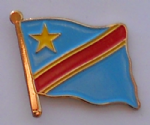 Congo, Democratic Republic of Country Flag Enamel Pin Badge
